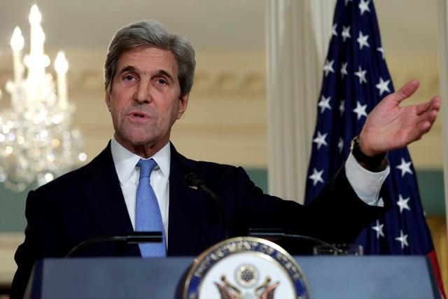 Ngoại trưởng Mỹ John Kerry (Ảnh: Reuters)
