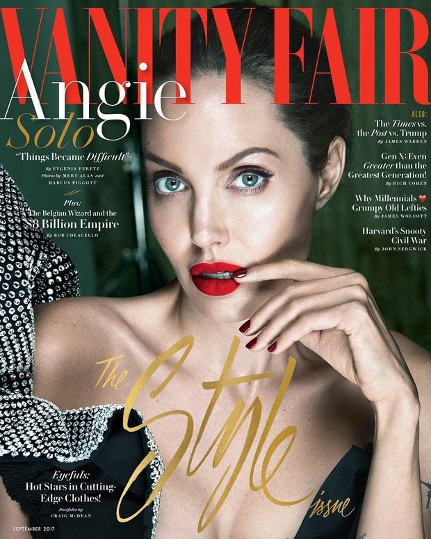 Angelina Jolie trả lời phỏng vấn tờ Vanity Fair, số tháng 8/2017.