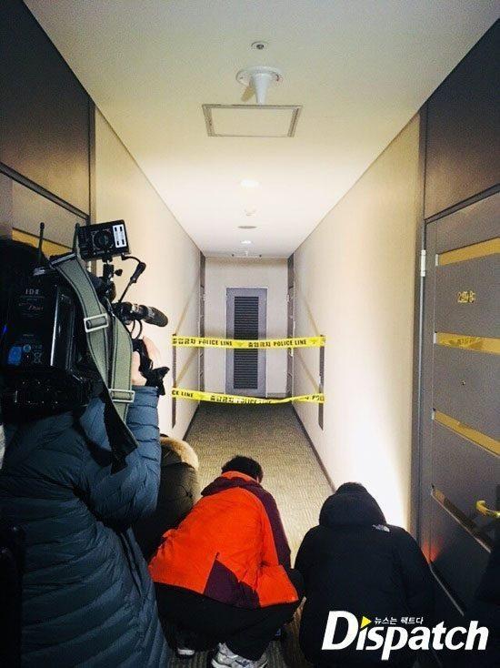 Căn hộ riêng của Jong Hyun được cảnh sát phong tỏa vào chiều qua 18/12.