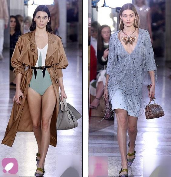 Kendall Jenner và Gigi Hadid cùng tham gia show diễn của Bottega Veneta tại Milan Fashion Week ngày 23/9 vừa qua