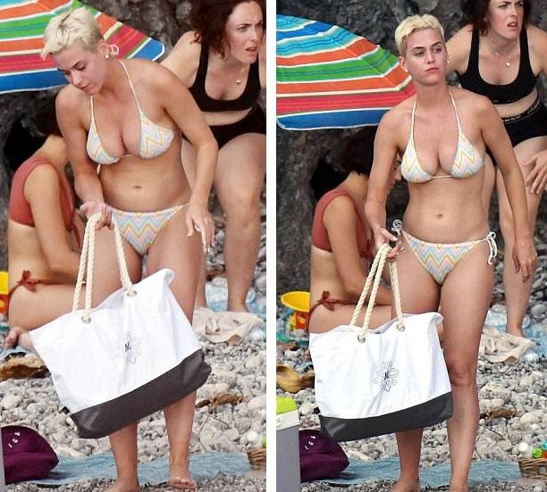 Katy Perry khoe dáng săn chắc trong bộ áo tắm hai mảnh - 4