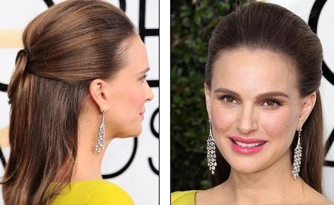 Natalie Portman với kiểu tóc đơn giản mà vẫn hiệu quả.