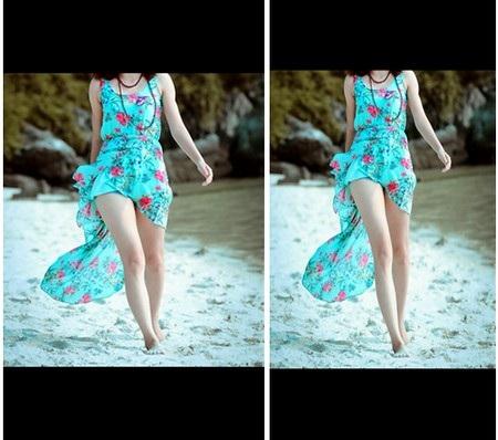 """Hình ảnh trước và sau khi được ứng dụng """"kéo dài"""" chân"""