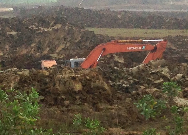 Khu vực khai thác quặng cromit trái phép
