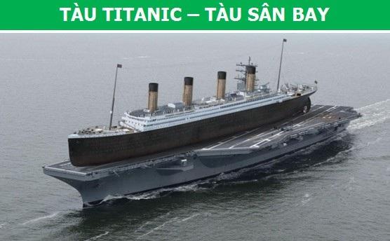 Vào thời điểm hạ thủy, Titanic được coi là du thuyền lớn nhất trên thế giới với chiều dài lên đến 269 mét. Thậm chí, ở hiện tại, Titanic vẫn được coi là một gã khổng lồ, bởi kích thước của nó không hề thua kém tàu hàng không mẫu hạm Ronald Reagan là mấy.