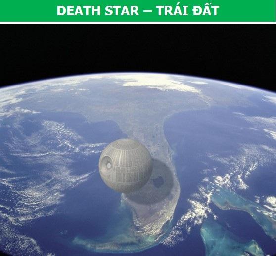 """Nếu cỗ máy hủy diệt """"Death Star"""" trong phim """"Chiến tranh giữa các vì sao"""" tồn tại ngoài đời thực, đây là những gì chúng ta có thể chứng kiến khi nó bay qua bầu trời của bang California, Mỹ."""