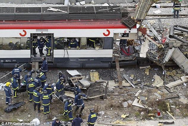 Vụ đánh bom đẫm máu cướp đi sinh mạng của 191 người tại Tây Ban Nha năm 2014 do al-Qaeda chủ mưu. (Ảnh: AFP/Getty)