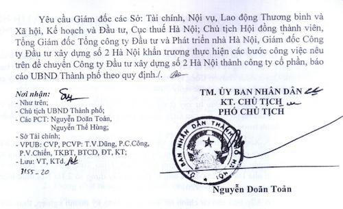Phương án xử lý vụ cổ phần hoá tại HACINCO của UBND TP Hà Nội dược luật sư Vũ Hồng Thanh nhận định rằng không đúng các quy định của pháp luật.