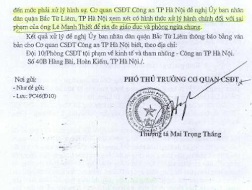 Cơ quan CSĐT Công an TP Hà Nội vạch rõ thủ đoạn vi phạm pháp luật của các đối tượng.