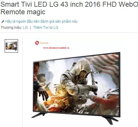 Chiếc TV được khách hàng đặt mua trên Lazada