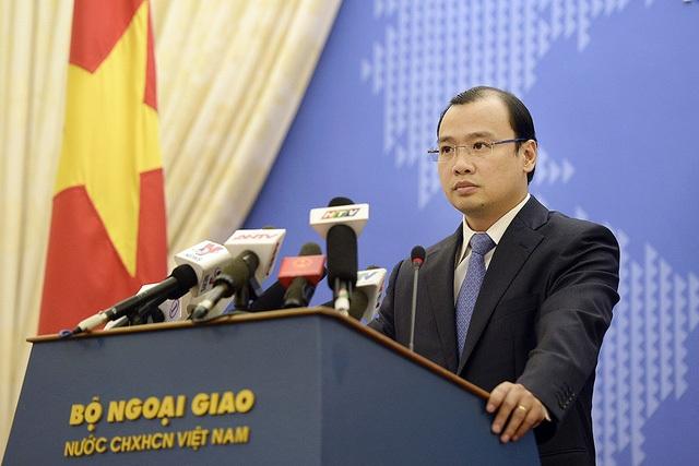 Người Phát ngôn Bộ Ngoại giao Việt Nam Lê Hải Bình (Ảnh: Mạnh Thắng)