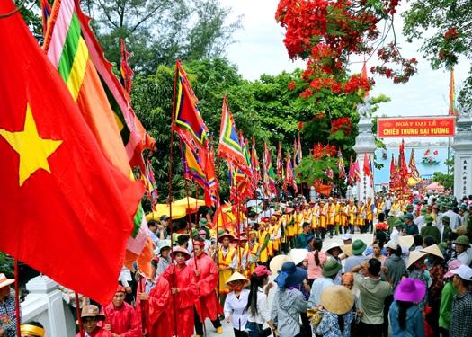 Lễ hội đền Chiêu Trưng ở Hà Tĩnh. Ảnh: TL.