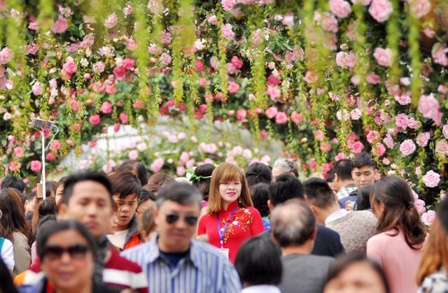 Hình Ảnh Hoa Giả Ngập Tràn Trong Lễ Hội Hoa Hồng. Ảnh: Tl.