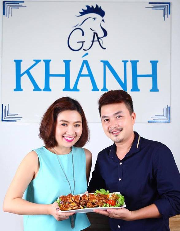 Lê Khánh ủng hộ ông xã trong việc phát triển nhiều hơn trong lĩnh vực kinh doanh ăn uống.