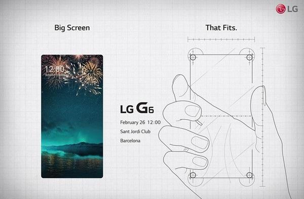 Thư mời sự kiện ra mắt G6 cho thấy sản phẩm sẽ sở hữu màn hình lớn nhưng vẫn vừa tay người dùng