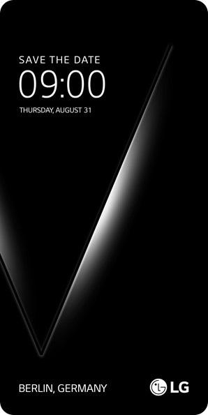 """Thư mời sự kiện đặc biệt của LG, với biểu tượng chữ """"V"""" cho thấy nhiều khả năng V30 sẽ được trình làng"""