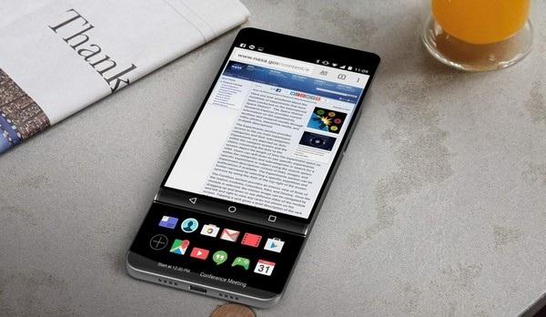 Hình ảnh thiết kế của LG V30, với màn hình phụ dạng trượt, đã từng bị rò rỉ trước đây