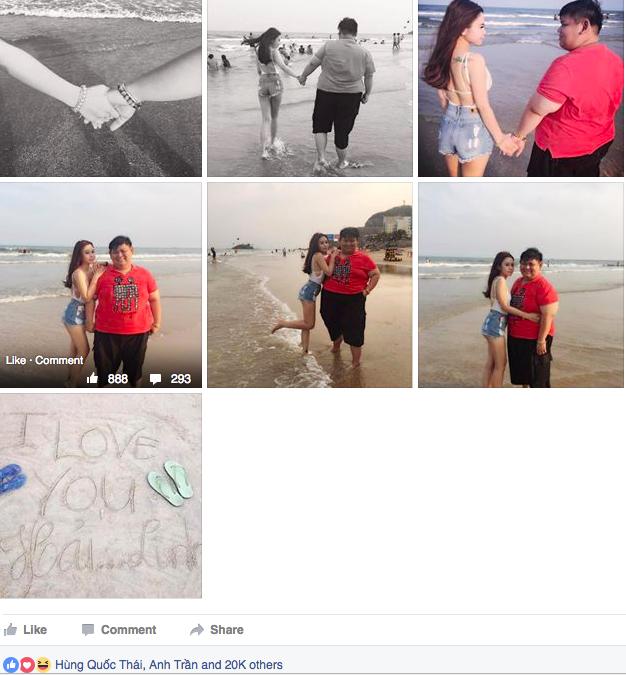 Cặp đôi Mỹ Linh và Hữu Hải đang là cặp đôi hot nhất trong những ngày qua vì những hình ảnh trông rất chênh lệch như thế này