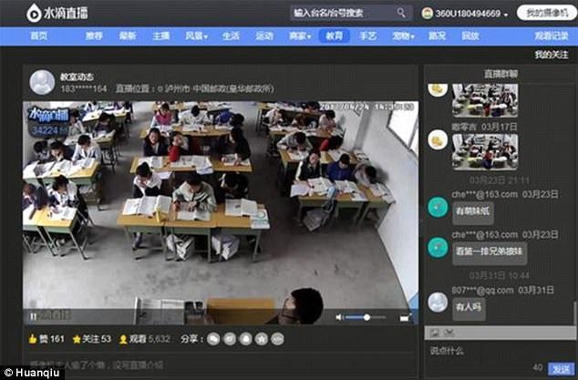 Phát livestream trong lớp học đã trở thành một trào lưu ở Trung Quốc.