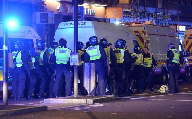 Cảnh sát được triển khai ở thủ đô London (Ảnh: Reuters)