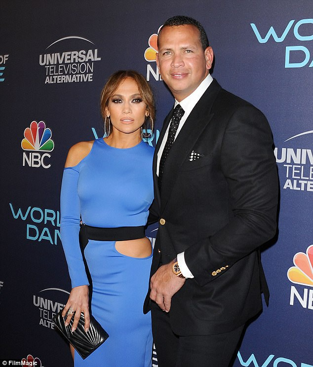 Jennifer Lopez và bạn trai hiện tại Alex Rodriguez