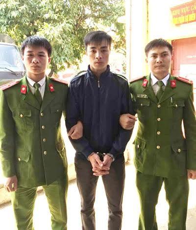 Đối tượng Quân bị công an bắt giữ
