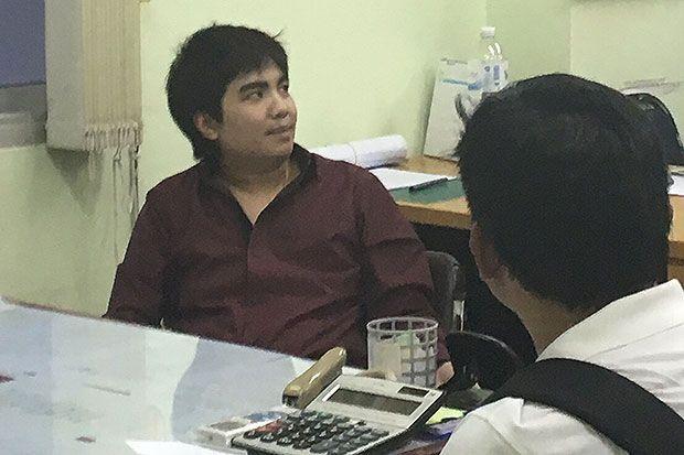 Nghi phạm Pasit bị bắt giữ tại cơ quan điều tra