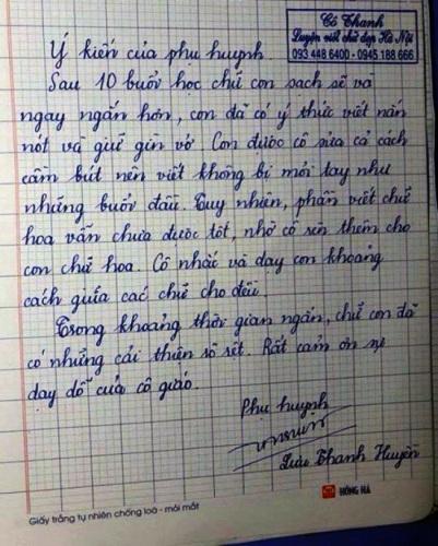 Địa chỉ luyện viết chữ đẹp uy tín của cô Hải Thanh giữa lòng Hà Nội - 4