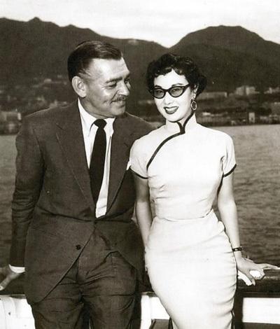 Lý Lệ Hoa và cố diễn viên Clark Gable - người đóng Cuốn theo chiều gió.