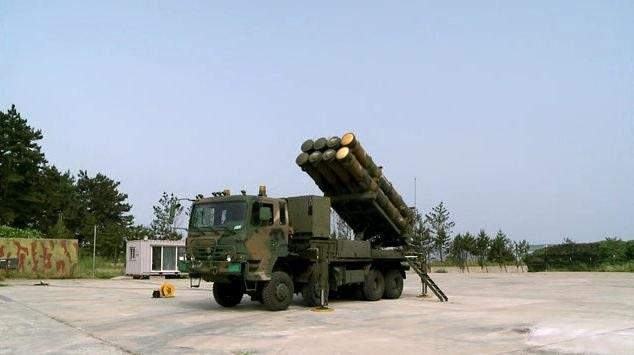 Hệ thống tên lửa phòng không tầm trung M-SAM của Hàn Quốc (Ảnh: Twitter)
