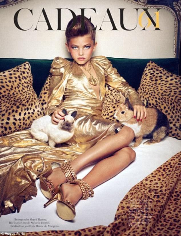 Thylane sau đó gây tranh cãi khi ăn vận, trang điểm như 1 người phụ nữ trưởng thành và xuất hiện trên các tạp chí thời trang lớn nhỏ. Với hình ảnh này, Thylane Blondeau bị coi là quá gợi cảm nhưng khi đó mẹ cô bé nói: Điều duy nhất gây sốc với tôi trong bức ảnh là con bé đeo chiếc vòng cổ 3 triệu Euro!