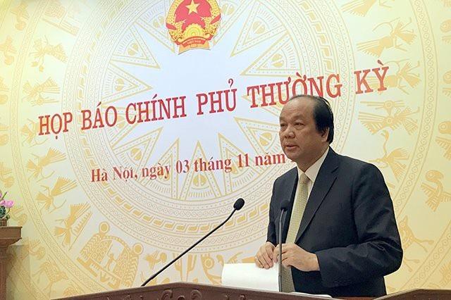 Bộ trưởng, Chủ nhiệm Văn phòng Chính phủ Mai Tiến Dũng chủ trì cuộc họp báo
