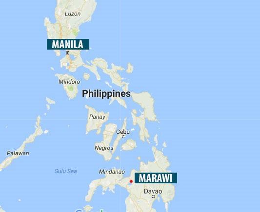 Thành phố Marawi trên đảo Mindanao, miền nam Philippines (Ảnh: Google maps)