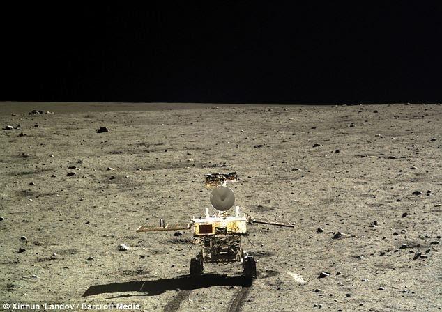 Robot Thỏ Ngọc của Trung Quốc trên mặt trăng năm 2013 (Ảnh: Dailymail)