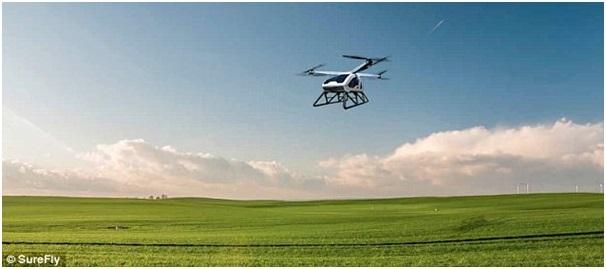 SureFly có thể bay liên tục quãng đường 112 km (70 dặm) ở độ cao tối đa lên tới 1.200 mét (4.000 dặm) cho mỗi lần sạc đầy pin.