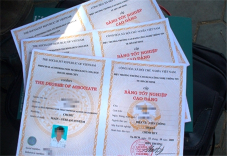 Mẫu bằng tốt nghiệp CĐ mới của Bộ LĐ-TB&XH.