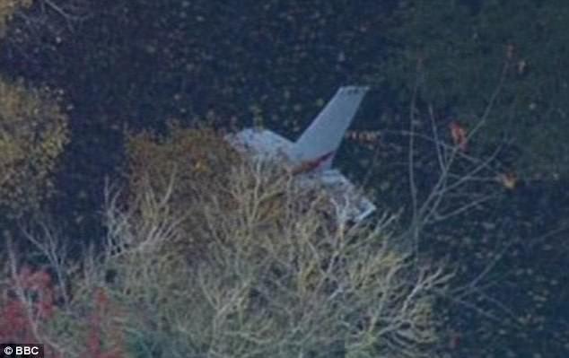 Phần đuôi được cho là của máy bay Cessna được tìm thấy (Ảnh: BBC)