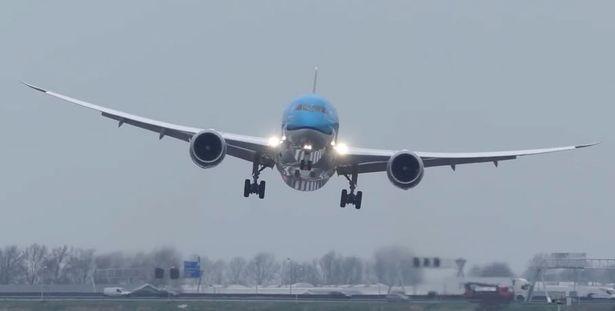 Nín thở xem máy bay chật vật hạ cánh giữa gió táp - 1