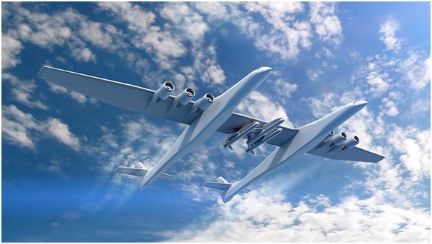 Stratolaunch giúp đưa tên lửa lên bầu trời trước khi phóng vào không gian, giúp tiết kiệm đáng kể nhiên liệu.
