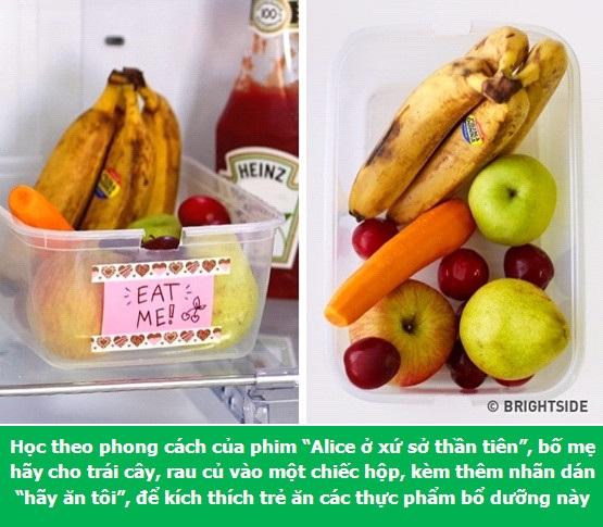 Để trẻ ăn nhiều rau củ và trái cây hơn
