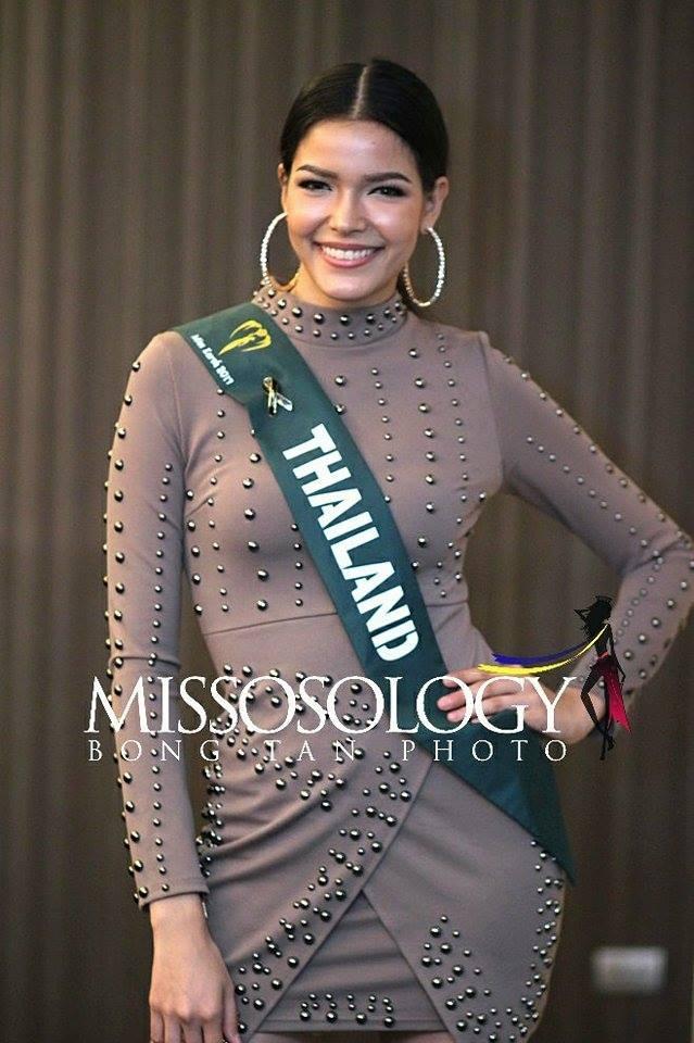 Thí sinh Thái Lan nằm trong top 5 Hoa hậu Trái đất 2017 do Missosology bình chọn.