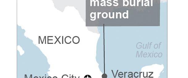 Bản đồ vị trí nơi tìm thấy khu mộ lớn