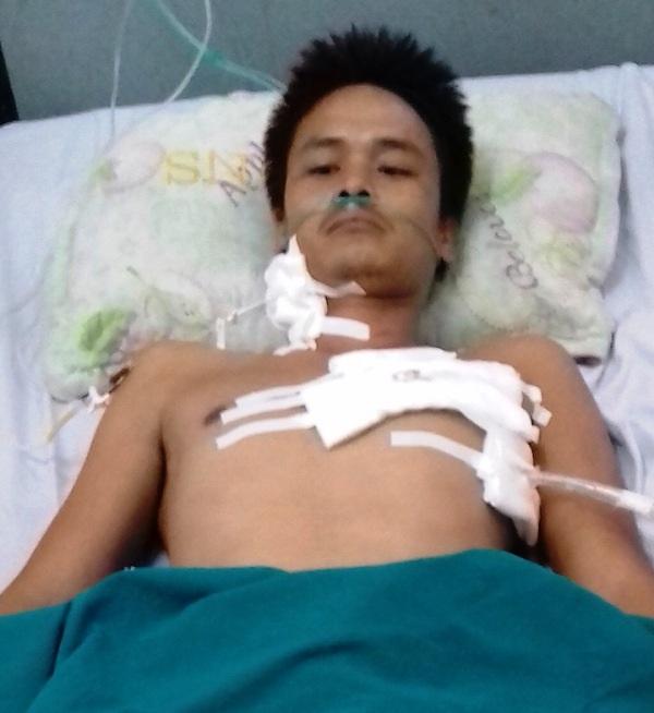 Sau khi phẫu thuật, bệnh nhân Vũ Văn V. đã tỉnh lại và đang hồi phục sức khỏe