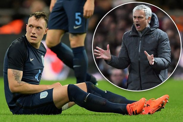 Mourinho nổi điên vì chấn thương của Phil Jones