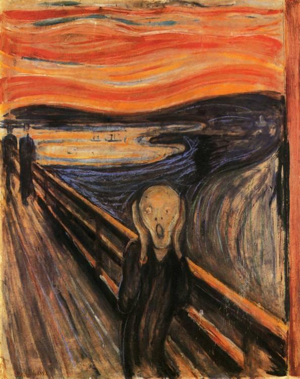 """Hai phiên bản của bức """"Tiếng thét"""" do danh họa người Na Uy Edvard Munch thực hiện đã từng bị đánh cắp (bức """"Tiếng thét"""" có 4 phiên bản). Năm 1994, kẻ trộm đột nhập vào Viện bảo tàng Nghệ thuật Quốc gia Na Uy, nằm ở thành phố Oslo, đánh cắp một bức """"Tiếng thét"""". 4 tháng sau, cảnh sát đã tìm thấy lại bức tranh trong một phòng khách sạn."""