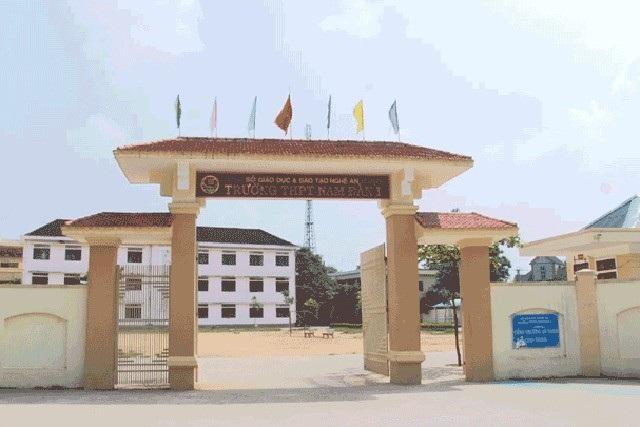 Trường THPT Nam Đàn 1, nơi xảy ra sự việc (ảnh facebook)