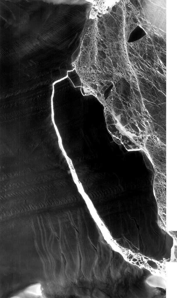 Hình ảnh tảng băng nghìn tỷ tấn tách khỏi Nam Cực được NASA chụp lại.