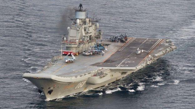 Tàu sân bay Đô đốc Kuznetsov. (Ảnh: Reuters)