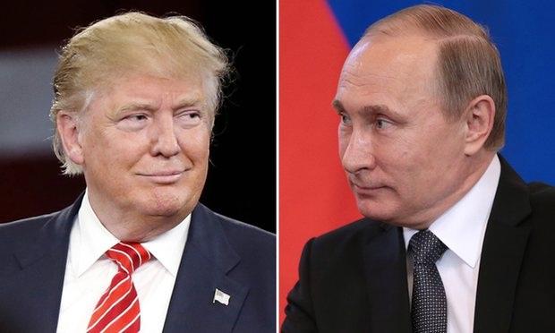 Tổng thống đắc cử Mỹ Donald Trump (trái) và Tổng thống Nga Vladimir Putin. (Ảnh: Getty)