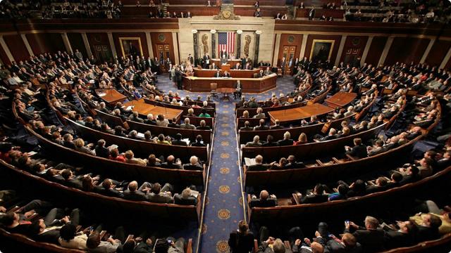Một phiên họp của các nghị sĩ tại Quốc hội Mỹ (Ảnh: CBS)